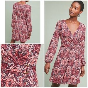 Anthropologie Maeve dress Paisley belted dress